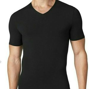 5 Tommy John Mens V-neck T shirt Black
